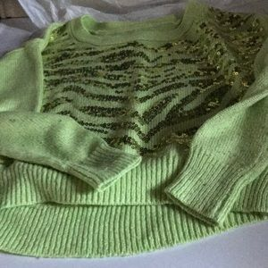 Justice Lime Green Sweater